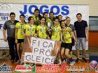 Fotos das finais do vôlei masculino e feminino dos jogos escolares de Bonito
