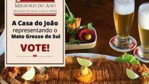 BONITO (MS): Restaurante 'Casa do João' de Bonito concorre a prêmio nacional