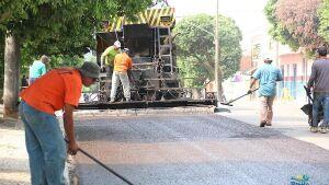 Prefeitura realiza recapeamento asfáltico na Cidade de Bonito