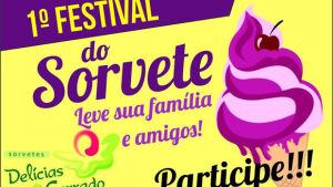 1º Festival do Sorvete começa nesta sexta e vai até dia 28 na praça, passaportes a venda em BONITO