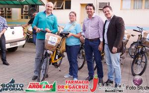 Prefeitura entrega bicicletas elétricas para os agentes de saúde de Bonito