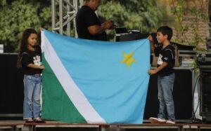 Educação comemora divisão do Estado e aniversário de Bonito com evento na praça