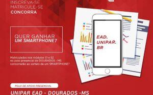 UNIPAR EAD com Polo em DOURADOS vai sortear um Smartphone, veja como participar