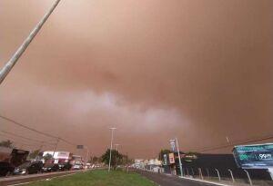 ALERTA: Nova tempestade de areia pode chegar no domingo a MS