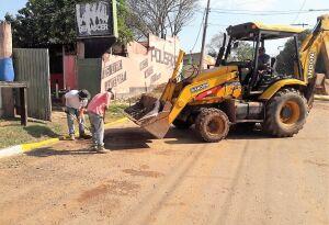 BONITO (MS): Obras realiza serviços de revitalização no distrito Águas do Miranda