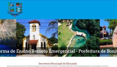 Plataforma online é mais uma ferramenta para auxiliar alunos da REME durante a pandemia em Bonito