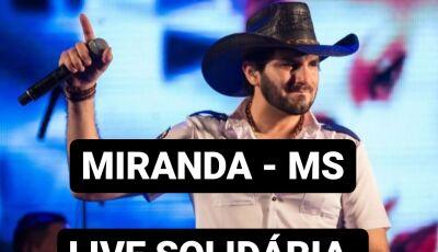 Live com Loubet e Jorge Lucas e Henrique vai arrecadar doações para carentes de Miranda (MS)