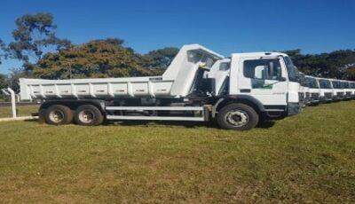 Bonito e 22 municípios recebem caminhões basculantes para ações de apoio à agricultura familiar