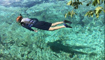 IDB INFORMA: no Barra do Sucuri você conhece 2 rios e flutua na 3ª água mais transparente do mundo