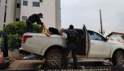 Motorista foge de abordagem policial e caminhonete é encontrada carregada com droga