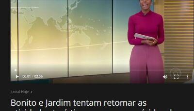 Bonito vira destaque nacional em reportagem do Jornal Hoje