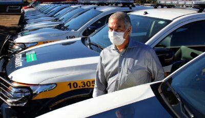 Reinaldo Azambuja entrega 78 viaturas para a Segurança Pública, 02 delas para Bonito (MS)