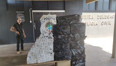 CASA CAIU: contrabandista é preso em flagrante, em Jardim