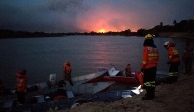 Força-tarefa conta com mais de 50 homens no combate aos focos de calor no Amolar
