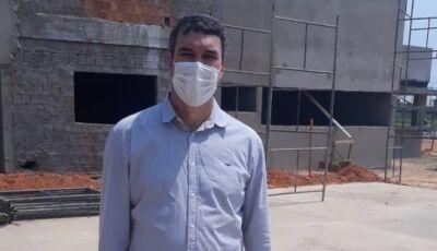 VÍDEO: Secretário Eduardo Riedel vistoria e destaca obra do Quartel do Corpo de Bombeiros em Bonito