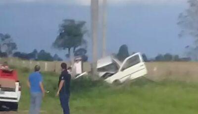 Cinco ficam feridos e bebê de um mês morre após carro colidir com coqueiro entre Jardim e Bonito