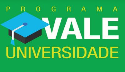 Inscrição para o Vale Universidade começa no dia 17, tudo pelo site da Sedhast