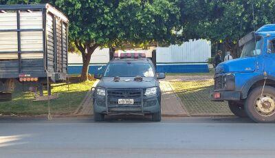 Após denúncia, 03 caminhões adulterados e carregado com gado é preso em Bonito
