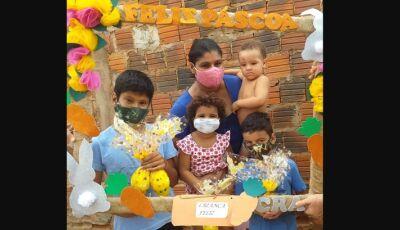 BONITO: Ovos de páscoa e caixas de bombons são entregues as famílias usuárias do SCFV e obra social
