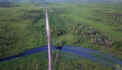 Obras de acesso à ponte que interliga os pantanais da Nhecolândia e Paiaguás estão adiantadas