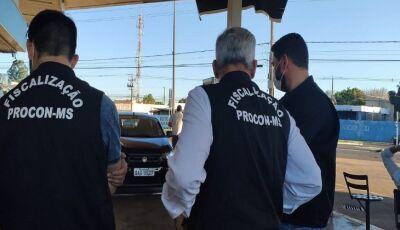 Após várias denúncias, Procon Estadual autua posto de combustível por vantagem excessiva na venda