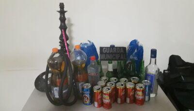 Guarda Municipal encerra mais uma festa clandestina regada a álcool em meio ao lockdown