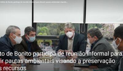 Prefeito participa de reunião para discutir pautas ambientais visando a preservação destes recursos