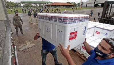 Mato Grosso do Sul recebe novo lote com 70.160 doses da vacina contra Covid-19