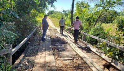Prefeito visita região da Fazenda LaLima para mapeamento de patrolamento e conserto de pontes
