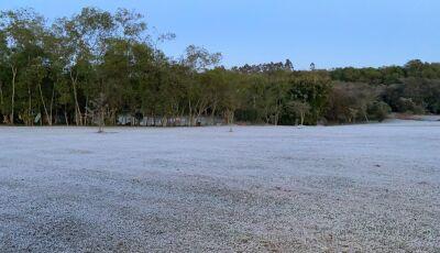 Geada é registrada em várias cidades de MS e alguns deles com temperaturas negativas