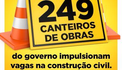Com 249 canteiros de obras, Governo de MS impulsiona vagas na construção civil
