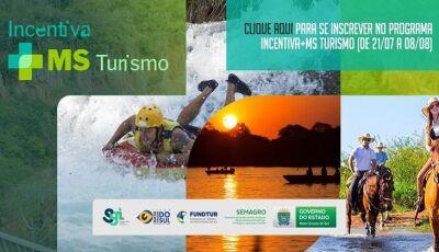 Cadastro para o programa Incentiva+MS Turismo começa nesta quarta-feira e vai até dia 08 de agosto