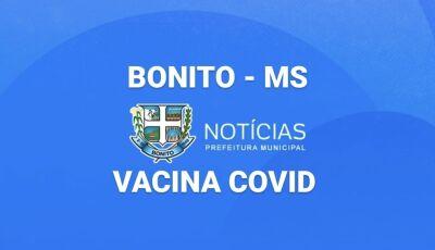 BONITO vacina com a 1ª, 2ª e 3ª doses neste sábado, confira horário e local