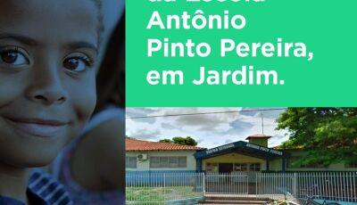 Com investimento de R$ 2,8 milhões, governo fará reforma geral da Escola Antônio Pinto em Jardim
