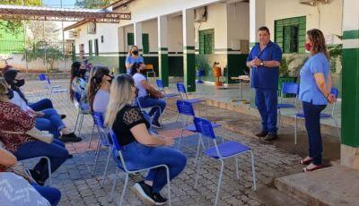 SEMEC realiza acolhida com os funcionários administrativos das unidades escolares em Bonito