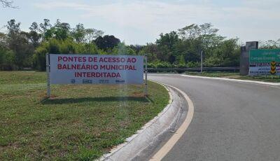 BONITO: Pontes que dão acesso ao Balneário Municipal estão interditadas para obras de revitalização