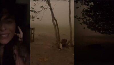 VÍDEO: Elenco de Pantanal viveu momentos de terror durante tempestade de areia em MS