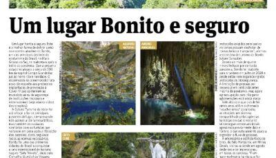 Bonito é destaque na mídia nacional pelas belezas naturais e turismo seguro
