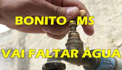 Sanesul informa quais os bairros que ficarão sem água nesta quarta-feira em BONITO (MS)