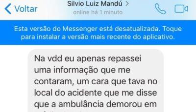 Prefeitura divulga nota sobre acidente com vítima, autor da falsa informação sequer estava em Bonito