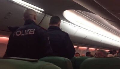 Briga motivada por crise de soltar 'pum' em avião obriga pouso de emergência