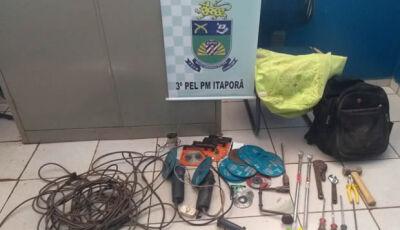 Criminosos quebram parede de banco em Itaporã em tentativa de furto