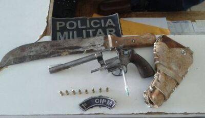 Polícia Militar prende autor de ameaça com arma de fogo em Bonito