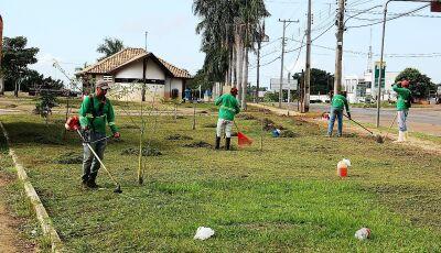 Empresa inicia serviços de jardinagem em todos os locais públicos, praças e canteiros em Bonito (MS)