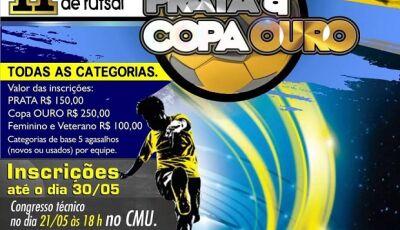 Inscrições ainda abertas para o 2° Campeonato Municipal de Futsal Série PRATA e Copa OURO em Bonito