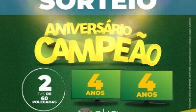 OKA vai sortear 02 TVs de 60 polegadas em comemoração ao aniversário de 4 anos em Bonito