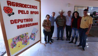 Deputado Barbosinha entrega emendas em Bodoquena e Bonito