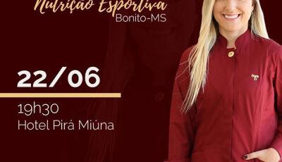 Nutricionista Amanda Guimarães fará palestra de nutrição esportiva dia 22 em Bonito (MS)