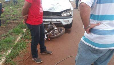 Mototiclista de 56 anos morre após  colidir com caminhonete na MS-164