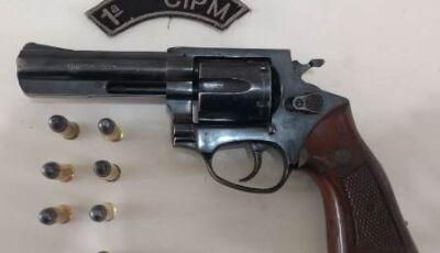 Polícia aborda homens com revolver calibre 38 com 07 munições em estrada rural em Bonito (MS)